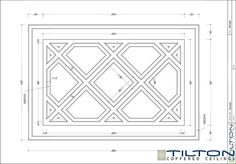 Coffered Ceiling Design Drawing - Diagonal 01