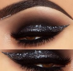 make up guide Competition makeup idea. make up glitter;make up brushes guide;make up samples; Pretty Makeup, Love Makeup, Makeup Inspo, Makeup Inspiration, Black Makeup, Makeup With Black Dress, Amazing Makeup, Makeup Ideas, Glitter Make Up