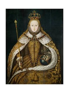 Queen Elizabeth I: ~ The Virgin Queen. This picture was done on her coronation day. The daughter of King Henry VIII and Queen Anne (Boleyn). The last of the Tudor line. Anne Boleyn, Tudor History, British History, Asian History, European History, Ancient History, Dinastia Tudor, Tudor Style, Mary Tudor