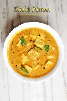 Creamy delicious shahi paneer made with Indian cottage cheese, spices & herbs. This restaurant style creamy paneer is the best you can make at home for weeknight dinners Shahi Paneer Recipe, Paneer Recipes, Curry Recipes, Indian Food Recipes, Vegetarian Recipes, Cooking Recipes, Vegetarian Curry, Vegetarian Dinners, Indian Snacks