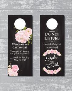 Peony Flower Wedding Do Not Disturb Sign Door by CreativePapier, $15.00