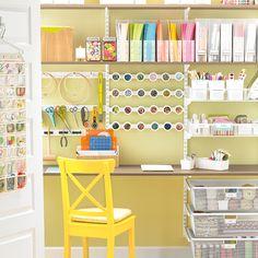 Hi Sugarplum!: Office/Craft closet organization