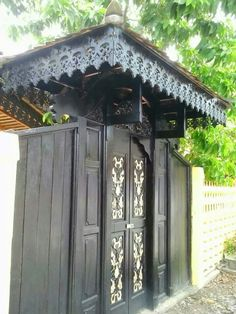 old traditional Malay gate