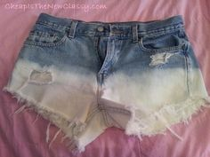 DIY Ombre Shorts: How To Make Distressed Shorts For Around $5