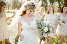 Lace Bride Bridesmaids