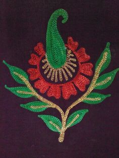 A Kashida Embroidery, Aari Embroidery, Embroidery Patterns, French Knot Embroidery, Thread Work, Blouse Designs, Patches, Work Blouse, Texture