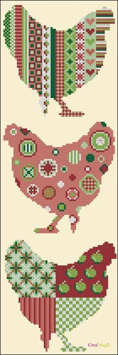 Chickens in Cross Stitch!