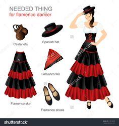 stock-vector-needed-thing-for-flamenco-dancer-woman-in-spanish-costume-women-dress-hat-on-head-flamenco-skirt-313914839.jpg (1500×1600)