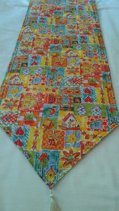 Birdhouses Reversible Table Runner 72x14 Handmade  Padded