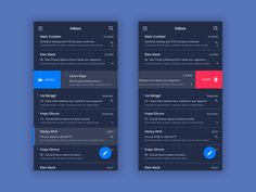Email iOS app UI design  by Chen Liu