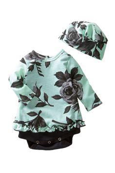 Bubble Dress & Hat Set (Baby Girls)