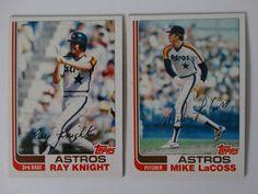 1982 Topps Traded Houston Astros Team Set of 2 Baseball Cards #HoustonAstros