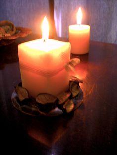 Bougies jaunes dégradées senteur Jasmin