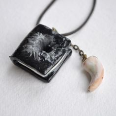 Tom Riddles Diary Basilisk Tooth Harry Potter inspired Pendant Necklace Handmade
