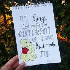 Bullet Journal Quotes, Bullet Journal Mood, Bullet Journal Ideas Pages, Bullet Journal Inspiration, Calligraphy Quotes Disney, Cute Calligraphy, Calligraphy Artist, Brush Lettering Quotes, Winnie The Pooh Quotes