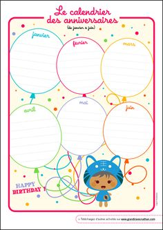 Le calendrier des anniversaires Home Management Binder, Classroom Management, Decoration Creche, French Education, Birthday Calendar, French Language Learning, Love My Kids, Teacher Organization, Budget Planner