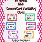 This is a complete set of over 100 word wall ELA vocabulary cards aligned with the Common Core standards for 5th grade! It comes with 6 color coded...