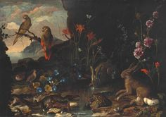 Stay up to date with Paolo Porpora (Italian, 1617 - . A Hedgehog, Art Auction, Hare, Tortoise, Quails, Still Life, Parakeets, Dragonflies, Crocodile