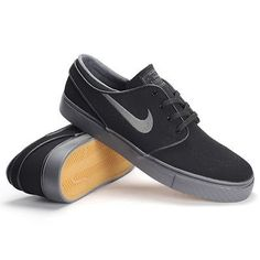 Nike SB Zoom Stefan Janoski NB Mens 778271-007 Black Grey Skate Shoes Size 9.5
