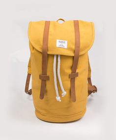 Men's Sandqvist Stig yellow utility backpack