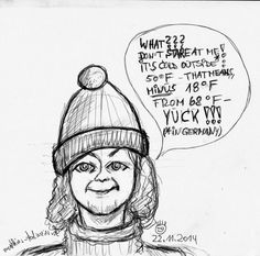 """""""Matthi's Bobble Hat  - Pencil-Sketch"""" Nope! That's NOT me, I tried to sketch a 'selfie' but it don't worked... in reality I'm looking much better, sure! :) But the Bobble Hat is good and the hair is fine.:)."""