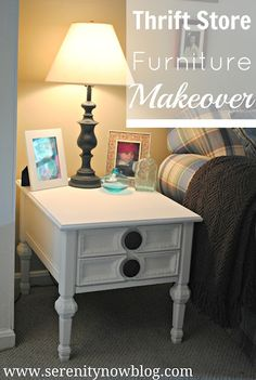Thrift Store Furniture Makeover, Serenity Now blog