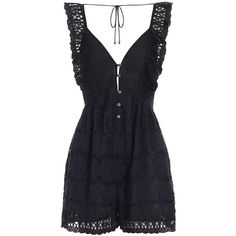 Zimmermann Porcelain Embroidery Playsuit (5.910 ARS) ❤ liked on Polyvore featuring jumpsuits, rompers, playsuits, dresses, ruffle jumpsuit, ruffle rompers, swim romper, ruffle romper and jump suit
