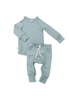 96c0c12bdc8 Night set in  sage  modal. Childhoods Clothing. Summer BoyRib KnitElastic  ...