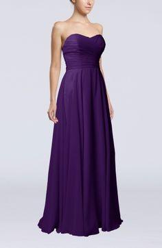 Royal Purple Elegant Sweetheart Sleeveless Zipper Ruching Wedding Guest Dresses - iFitDress.com