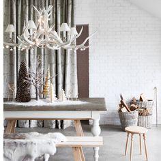 Minimalist Scandi-style dining room dressed for New Year's Eve | New Year's Eve dining room ideas | Christmas 2013 | PHOTO GALLERY | Housetohome.co.uk