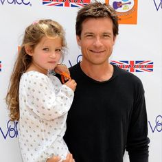 Jason Bateman with his daughter. ♥ Visit my celebrity site at www.celebritysize... for more fun stuff!♥ #celebritysizes