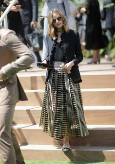 Olivia Palermo attends the Christian Dior Haute Couture Fall/Winter 20172018 show as part of Haute Couture Paris Fashion Week on July 3 2017 in Paris...