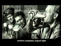 Carlsberg Ice Cold In Alex TV ad - if this doesn't make you thirsty, you're probably dead. Famously John Mills had to film the scene about ten times, necking a bottle straight each time. So, Legless in Alex by the end