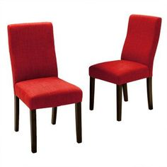 Best Selling Home Liberty Parsons Dining Chair - Set of 2 Red - 295176, Durable