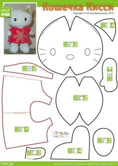 Facilite Sua Arte: Feltro - Hello Kitty 1