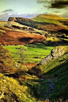 The Hope Valley, Derbyshire, Peak District National Park, England.   Mr. Darcy's estate was located in Derbyshire