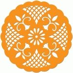 casual doily Stencil Art, Stencils, Border Design, Pattern Design, Hobbies And Crafts, Arts And Crafts, Felt Crafts, Paper Crafts, Silhouette Online Store
