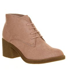 Office Keeper Lace Up Pink Pony - Ankle Boots