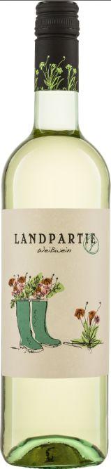 LANDPARTY Weiß - unbeschwerter Genuss mit verspielter Aufmachung: fruchtiger angenehmer Duft, süffig und weich www.landparty.de/ #Biowein #Landwein #Weißwein