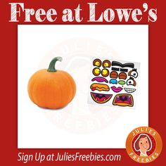 Facebook Twitter PinterestHere is an offer where you can sign up to attend a FREE Build and Grow Pumpkin Carving Demonstration at Lowe's. Adult's will get to learn how to carve a pumpkin with a Dremel tool, and kids will receive a free pumpkin, sticker sheet, and more! This is on October 8, 2016… beView Deal