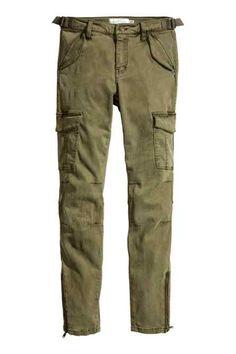 Spodnie cargo z lyocellem