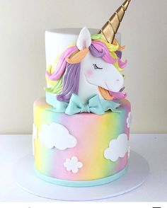29 Ideas birthday cake girls unicorn for 2019 29 Ideas birthday cake girls unicorn for 2019 First Birthday Cakes, Birthday Cake Girls, Birthday Kids, Princess Birthday Cakes, Pink Birthday, Unicorn Themed Birthday, Unicorn Party, Mermaid Birthday, Girl Cakes