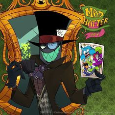 """""""Mad as a hatter and twice as twisted"""" It's okay to be a little crazy out here give us a smile and show us how mad you can be. Cartoon Fan, Cartoon Shows, The Black Web, Cartoon Network Fanart, Dr Flug, Villainous Cartoon, Bendy And The Ink Machine, Art Series, Cute Images"""