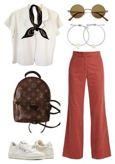 """""""Untitled #2085"""" by kellawear ❤ liked on Polyvore featuring AlexaChung, agnès b., Hermès, Reebok, Louis Vuitton and Madewell"""