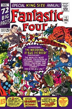 Fantastic Four Annual # 3 by Jack Kirby & Mike Esposito..... THE Wedding,My all time favourite.