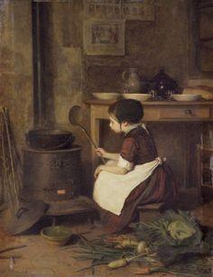 The Little Cook (La Petite cuisinière)  1858 ~  Pierre Édouard Frère