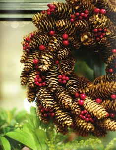 Got pinecones?Make pinecone wreaths for craft booth.
