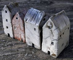 Raku Houses, Mark Strayer, North Star Pottery