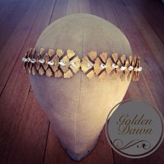 #kellyspence Golden Dawn headband #bridal #hairaccessories #gold #gildedwoodland #headdress