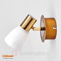 Applique LED Duena aspect laiton avec LED OSRAM sicher & bequem online…